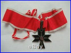 Croatia Order Of The Iron Trefoil 1st Class Neck Badge. Original! Rare