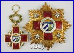 Cuban Order of Honor and Merit, 1 Model. CUBA 1 CLASS SET. DECORATION BADGE CROSS