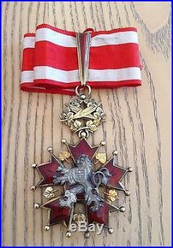 Czechoslovak Order of the White Lion. Commander's neck Badge. Czech Republic