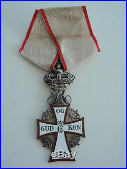 Denmark Order Of Dannebrog Knight Grade. Cased. Rare. Ef