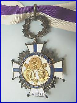 DOMINICAN REPUBLIC ORDER OF DUARTE, COMMANDER, sterling enamels, 1930s, rare