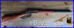 Denix Replica Old West M1873 Engraved Brass Trim Lever Action Rifle Non-Firing