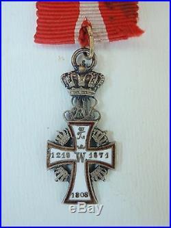 Denmark Order Of Dannebrog Miniature, Silver. Rare! Vf+