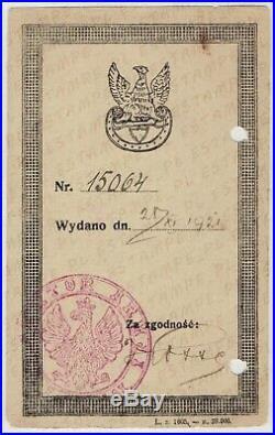 Document for Badge Lithuanian-Belarussian Front PolishSoviet War (5551)