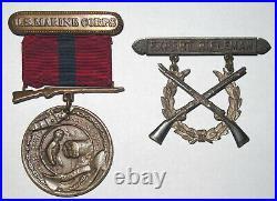 Engraved 1920-1922 USMC Good Conduct Medal Lot Asiatic & Siberia AEF Marine