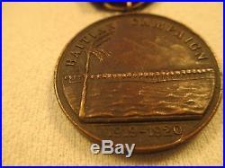 Excellent Condition USMC 1919-1920 Haitian Campaign Medal, Plain Number 707, NR