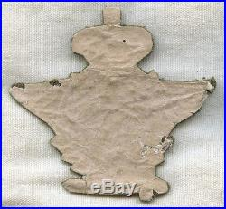 Extremely Rare 1920s Romanian Air Force Officer Hat Badge in Bullion