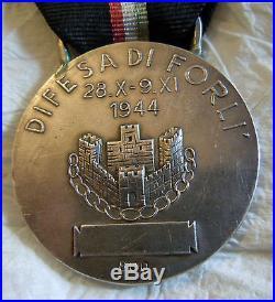 Fascist Medal Silver Repubblica Sociale Italiana Difesa DI Forli 1944 Dux