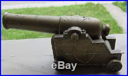 Fantastic Pre WW2 Trench Art Theater Made Working Brass Signal Cannon Loud Lucy