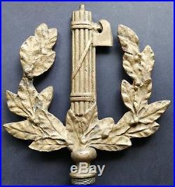 Fascist Big Brass Badge P. N. F. Puntale Per Labaro Tip Flag Partito Fascista Duce