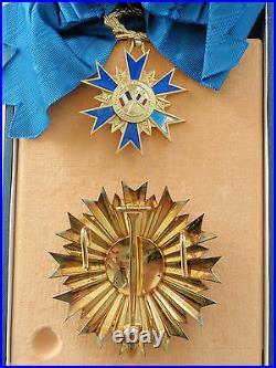 France Republic Order Of Merit Grand Cross Set. Silver/gilt/hallmarked. Rare Vf