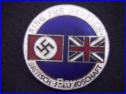 German Germany British Friendship Badge Ring Fur Deutsch Britisch Freundschaft