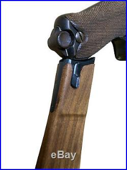 German WWI Artillery Luger P08 Wood Stock with Attaching Iron