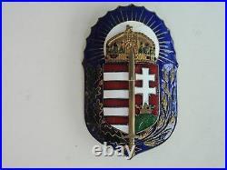 Hungary Kingdom Badge Medal. Rare. Vf+