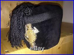 Italian Fascist Youth FFGGC Colbak Fez Hat Cap Insignia Milizia Mvsn Pnf Militia