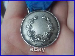 Italian Medal Al Valore Militare For Native Soldiers Silver 800 Italy Order Rare