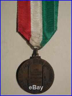 Italy Fascist medal for the Berlin Olympics 1936 athletes RARE olimpiadi