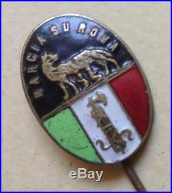 Italy Italia Distintivo Marcia Su Roma Originale