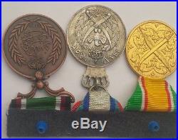 Jordan Bar 3 Medal Order Badge Faithful Service Silver Jubilee Administrative