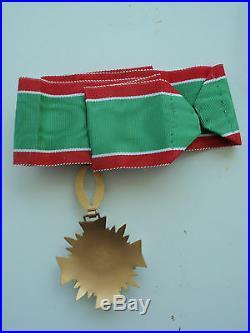 Katanga Order Of Merit Commander Neck Badge. Very Rare- Only Issued 6 Months
