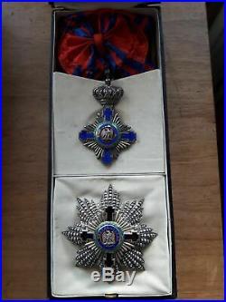 Kingdom Romania Orde of Star Grand Cross (1st cls) KRETLY type 1877+box. France