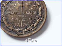 Kingdom Romania Victory Medal Kristesko WW1 Interallied Official Original Order