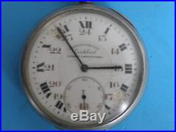 Kingdom Yugoslavia Serbia Military Officers Vintage Watch Chronograph Cortebert