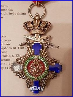 Kingdom of Romania until 1937. Lot of 2 military awards