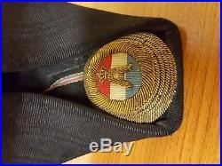 Kingdom of Yugoslavia High Officer Navy Hat Rare Item of Kingdom History