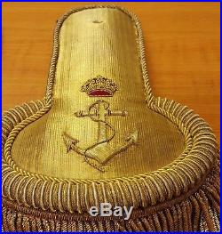 Kingdom of Yugoslavia High Officer Navy Parad epaulettes Rare Item of Kingdom