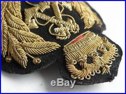 Kingdom of Yugoslavia Navy, River Flotilla Officer Bullion 1936/1941 cap badge