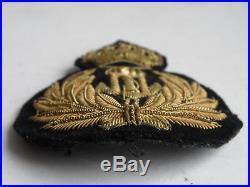 Kingdom of Yugoslavia Navy cap badge King Peter II 1936