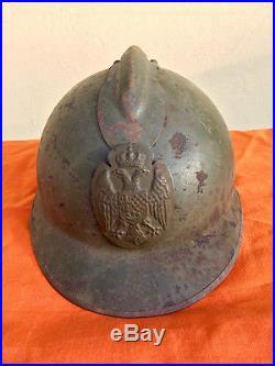 Kingdom of Yugoslavia WWII Army combat helmet adrian cockade old antique hat WW2