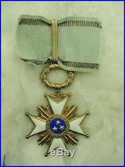 Latvia Order Of The 3 Stars Commander Neck Badge. Rare! Vf+