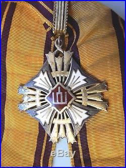 LITHUANIA, REPUBLIC, LITHUANIAN ORDER OF GEDIMINAS, COMMANDER, Type II, very rare