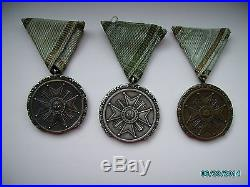 Latvia Order Of Three Stars, Medal Class Full Set Golden, Silver, Bronze