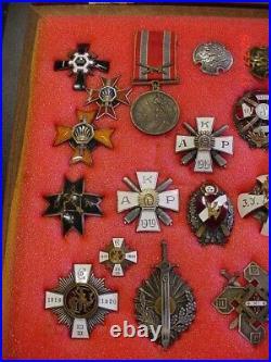 Latvian Regimental Badges Latvia Collection Of 41 Medals Latvija Orders Awards
