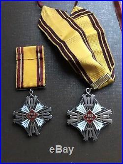 Lithuania 1918-38 GEDIMINAS 2 pcs orders + 2 officers photo's SUPER RARE Litauen