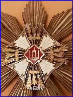 Lithuania until 1940. Original Gediminas order of 1st class. RRR