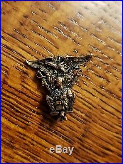 Lot Of 2 Vtg Antique USNA Naval Academy Pins 14k Gold 1925 1947
