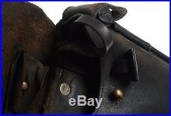 Luger Pistol Holster Portuguese GNR Pistol Black Leather Unit Marked
