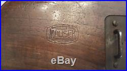 MAUSER MODEL M30 OR M712 SCHNELLFEUR ORIGINAL WOOD STOCK WithLEATHER HOLSTER