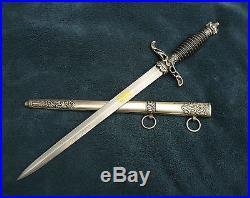 Medical officers dress dagger Pre World War II. Knife Red Cross Surgeon General