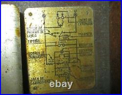 Military army field phone Spanish not checked helmet telegraph signals morse WW