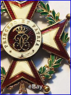 Monaco Order of Saint Charles officer (Ordre de Saint Charle) Knight Chevalier