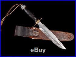NICE U. S. CUSTOM RANDALL KNIFE FIGHTER WWII