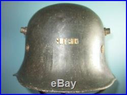 Named & marked Irish Eire helmet Vickers 1927 casque casco stahlhelm elmo
