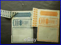 Nazi Bank Clearing Association 2x $1000- German Gold Dollar Bonds USA Printed