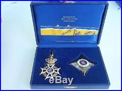 Netherlands Order Of House Of Nassau Grand Officer Set. Cased. Rare. Ef