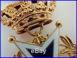 Netherlands Order Of Orange-nassau Officer Grade. Made In Gold! Rare! Ef